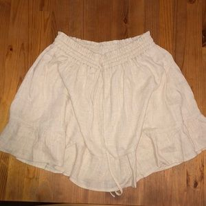 Princess Polly linen beige lined mini skirt